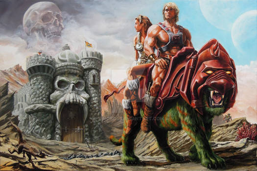 He-Man: The Prophecy Of The Legend / Oil On Canvas