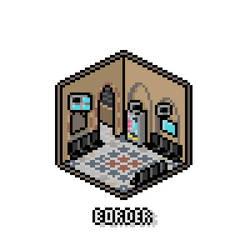 Pixel Isometric Border by Ropolio