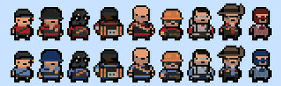 Pixel Team Fortress 2 by Ropolio