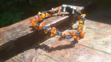 amber cat collar with security clasp