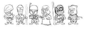 Chibi Bounty Hunters