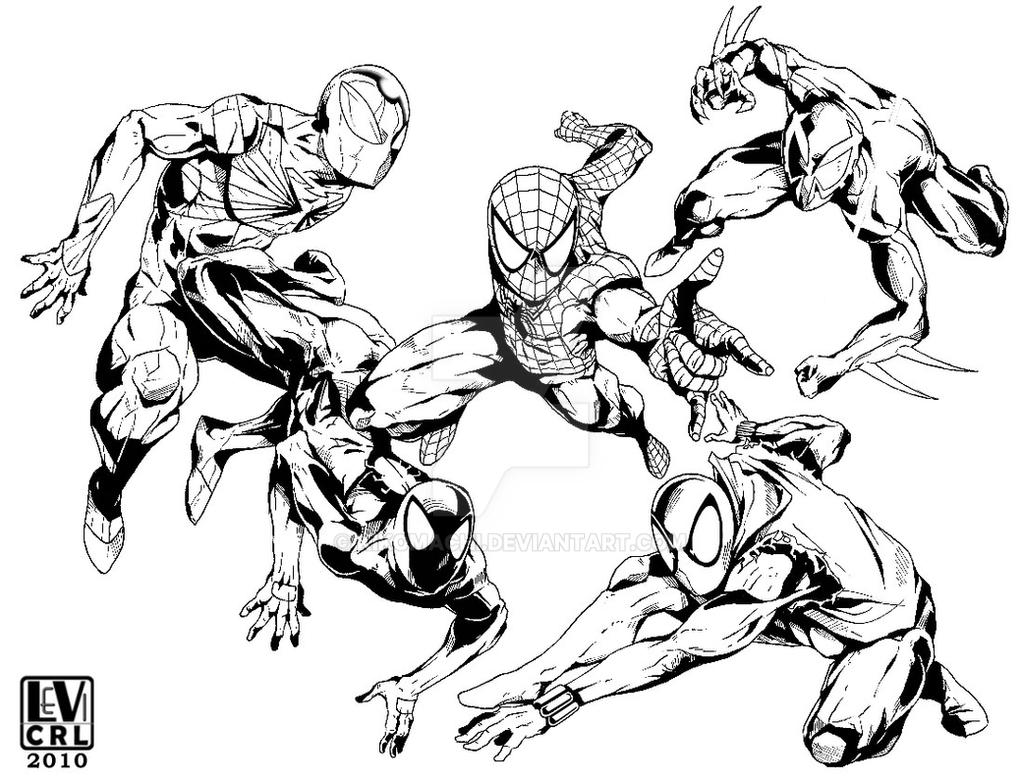 spider man 2099 coloring pages inked spider man forever by kikomachi on deviantart