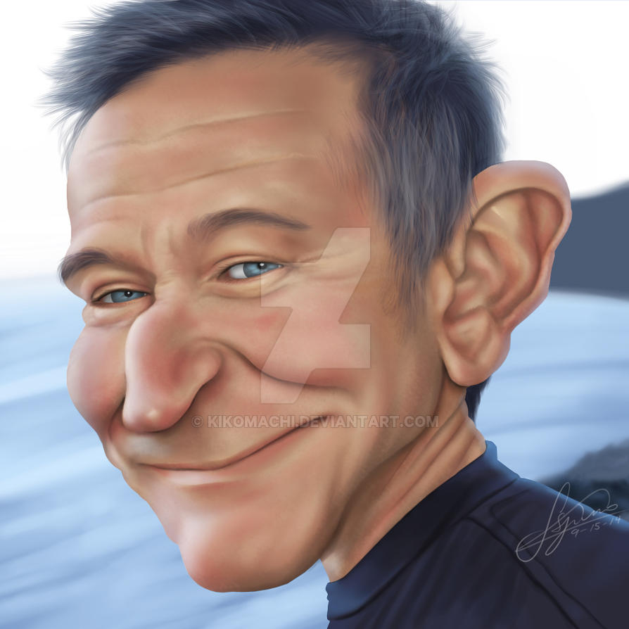 Caricature Robin Williams by kikomachi