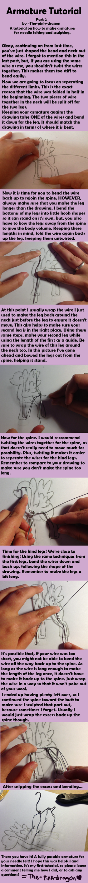 Needle Felt Armature Tutorial Part 2 by the-pink-dragon