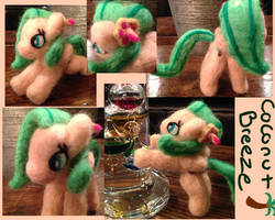 Coconut Breeze Posable Needle Felt by the-pink-dragon