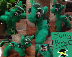 Jolly Roger Needle Felt Posable Pony by the-pink-dragon