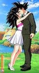Commission - Caulifla kiss Goku