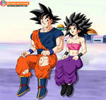 Commission - Goku and Caulifla after training
