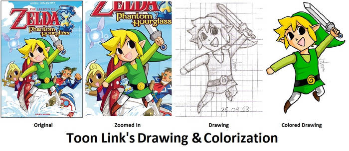 S. by S. : Toon Link's Drawing and Colorization