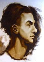 Alla Prima Oil Sketch Portrait by DeLumine