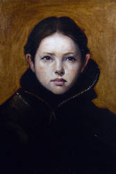 Child of Woe - Oil on Canvas by DeLumine