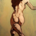 Running Nude by DeLumine