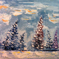 Winter Pines by DeLumine