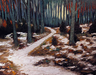 Snow Path by DeLumine