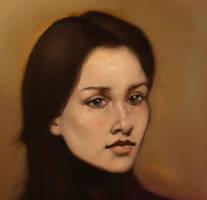Sophie - Alla Prima Portrait by DeLumine
