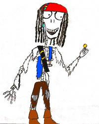 Captain Jack Sparrow skeleton form burtonized by thearist2013