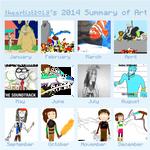 theartist2013's 2014 Summary of Art