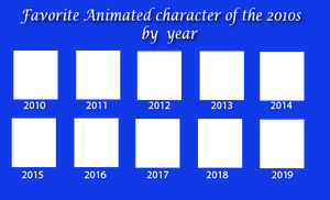Favorite Animated character of the 2010s by year