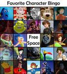Favourite Animated Movie character bingo