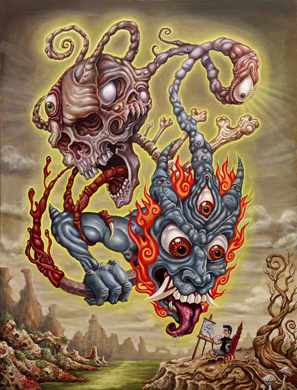 Unidentified Flying Monsters by tat2pooch