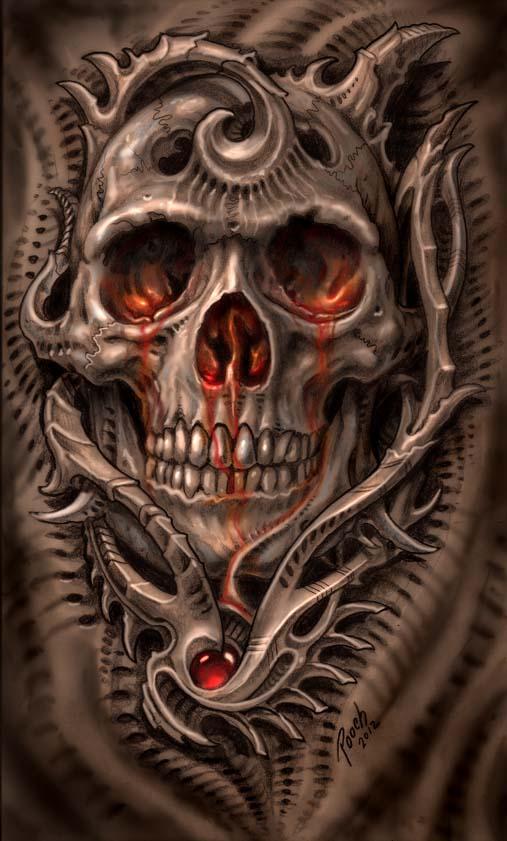 Biomech Bloodskull by tat2pooch on DeviantArt