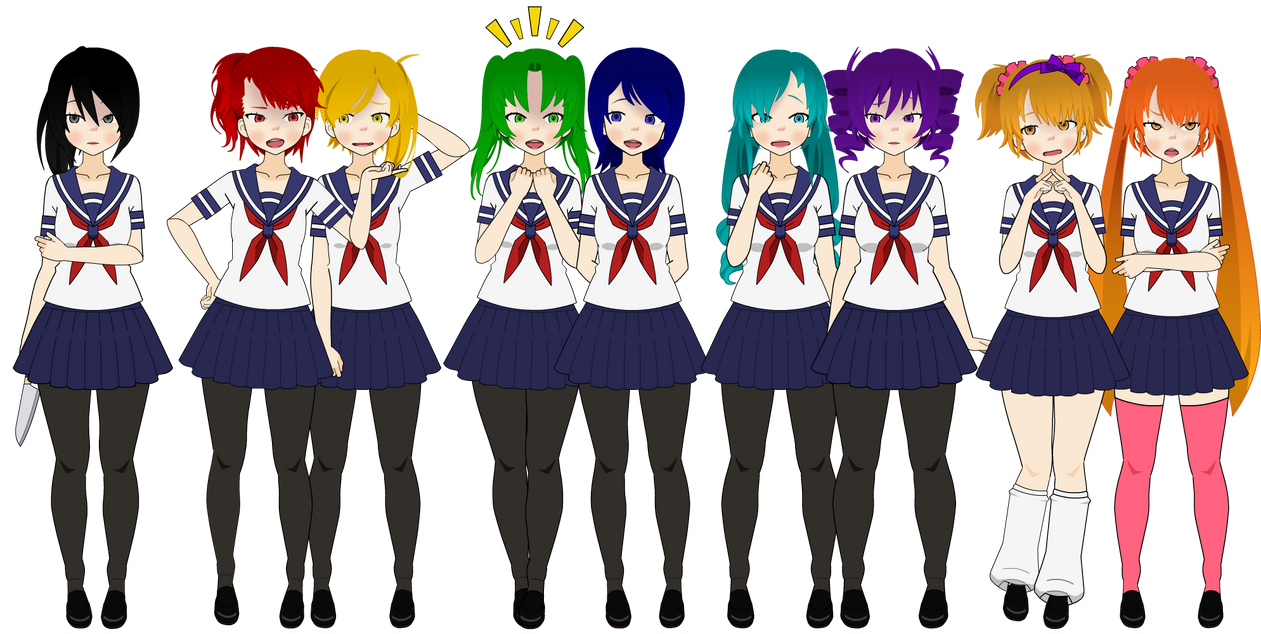 Yandere Simulator Girls By Chlaki On Deviantart
