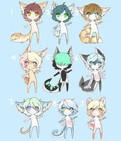 Batch adoptables OFFER TO ADOPT by SaltyLen