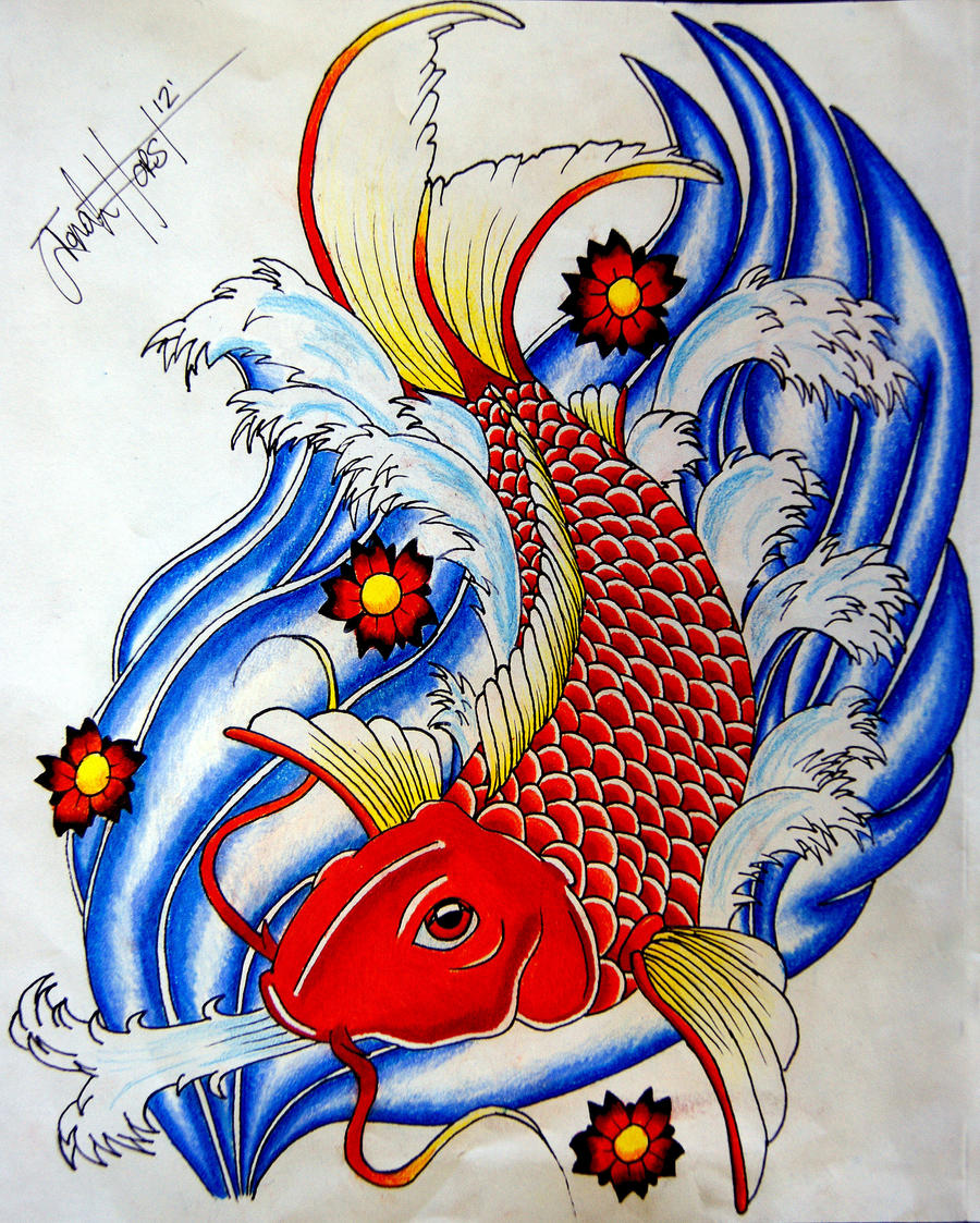 Koi fish tattoo design by ItsJonahHorst on DeviantArt