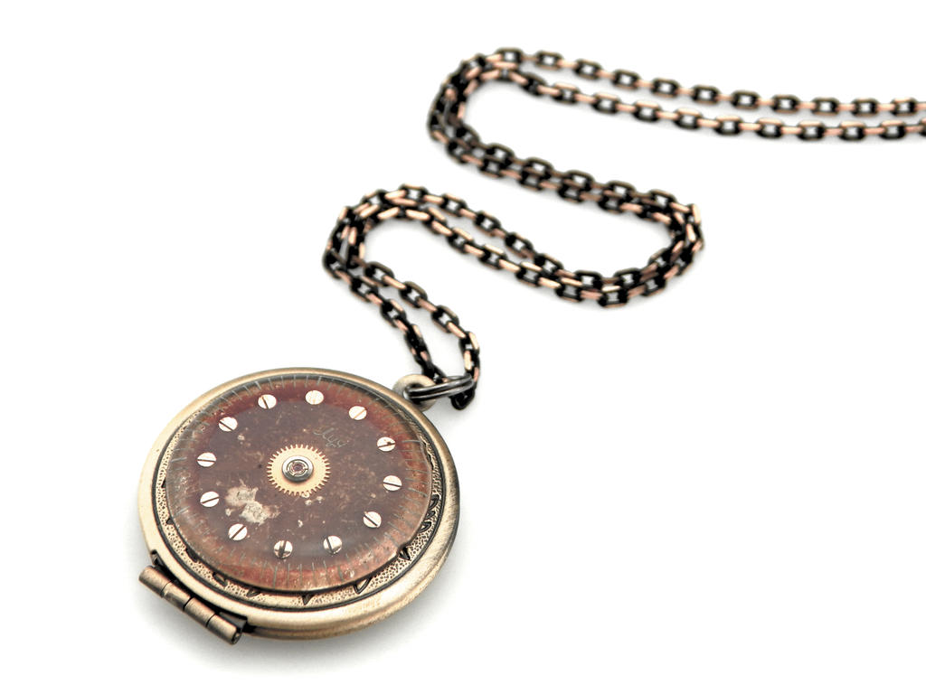 Clockpunk Locket - Industrial Locket by IndustrialSwank