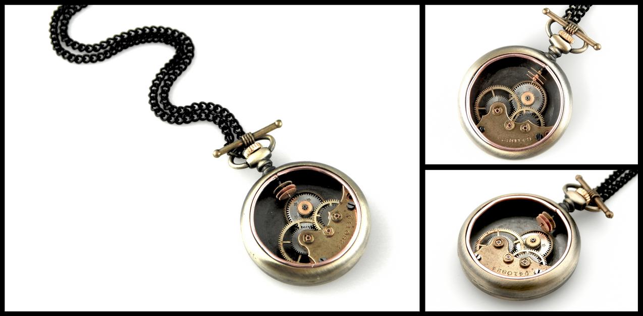Steampunk Pocket Watch - Clockpunk by IndustrialSwank