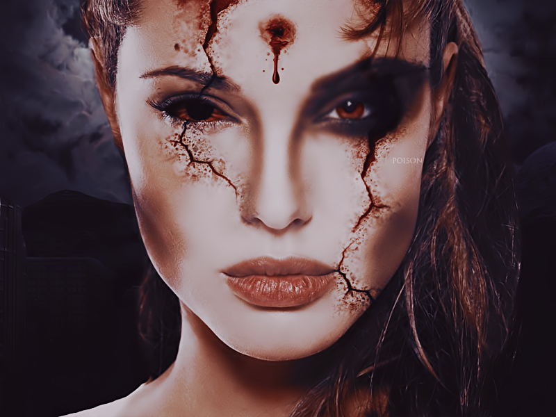 Your Sweet Poison {Gallery} Angelina_jolie_zombie_by_imyourpoison-d4uzh01