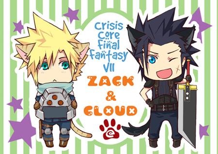 Postcard: Zack+Cloud by semokan