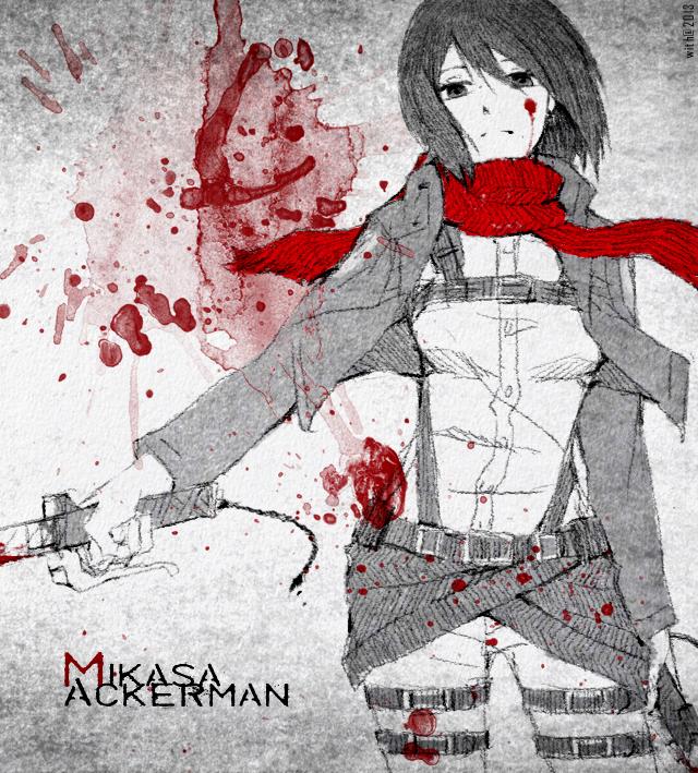 Shingeki no Mikasa by semokan