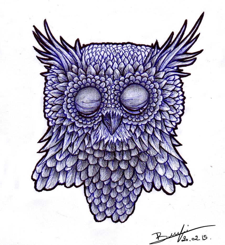 Sleepy owl by be-a-sin