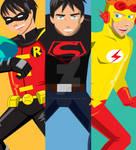 Robin Superboy Kidflash