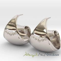 Spiral Hoop Earrings  by oriridraco
