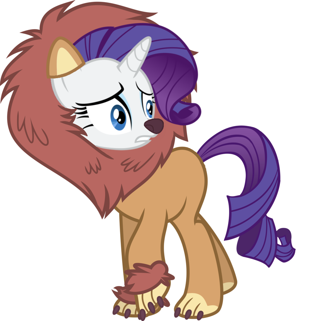 rarity is a lion by sikander mlp on deviantart