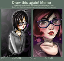 Draw This Again MEME by Glamra