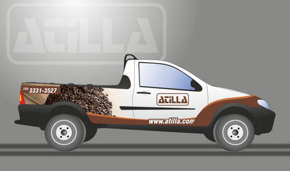 Fiat Strada Atilla coffee Roaster