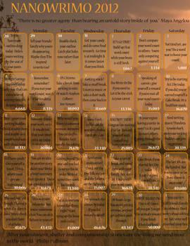 NaNoWriMo Calendar-2012
