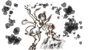 Request - Nue and Rumia by SuperParadox