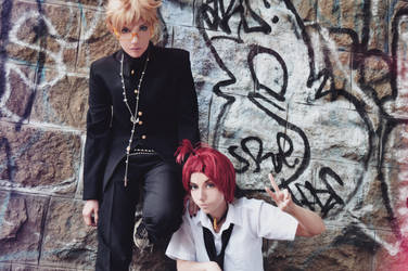 Shima and Kujo (Zone-00) by EternityPB