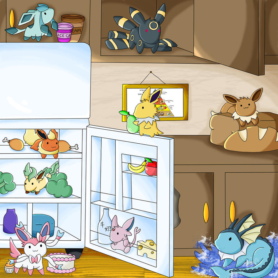 Eevee 39 s food pyramid the kitchen by chikadee34 on deviantart for Pokemon cuisine
