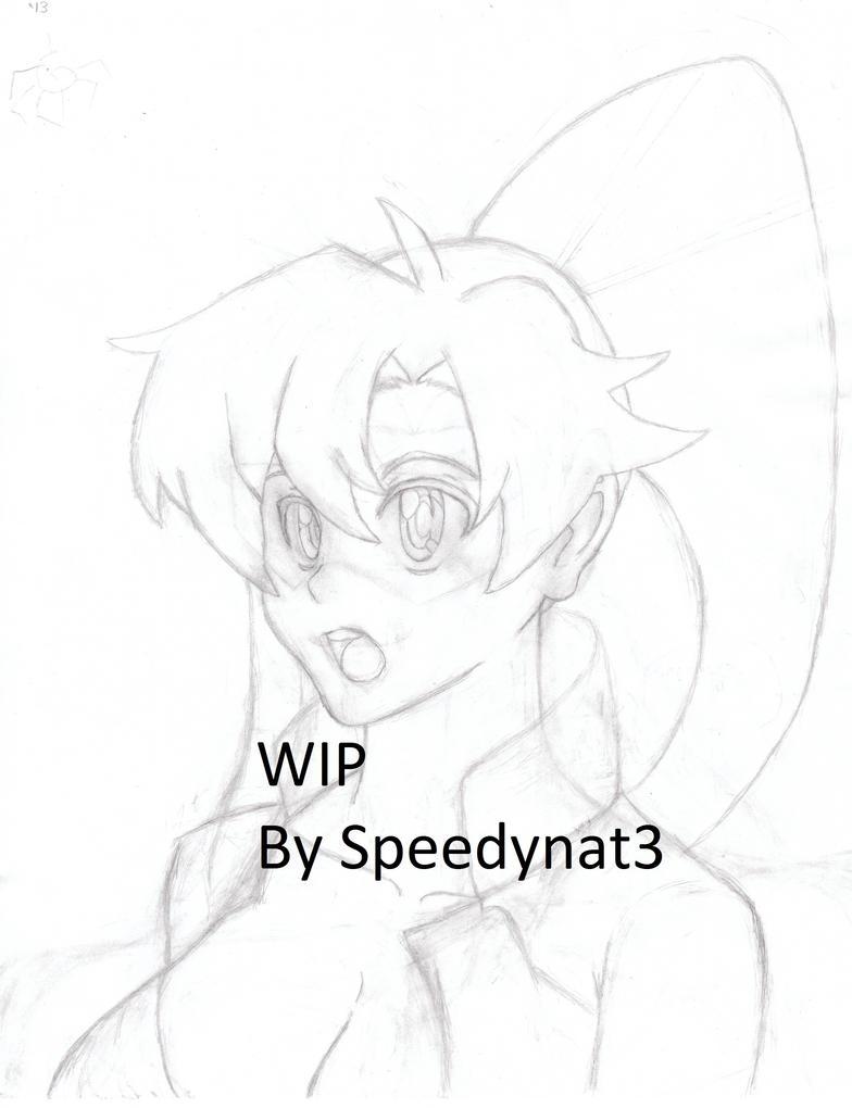 Yoko Bust Sketch W.I.P. by Speedynat3