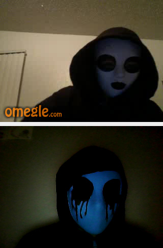 Masky and Eyeless Jack on Omegle by carabaosrock