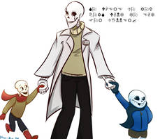 Gaster and his skelesons by keratonic