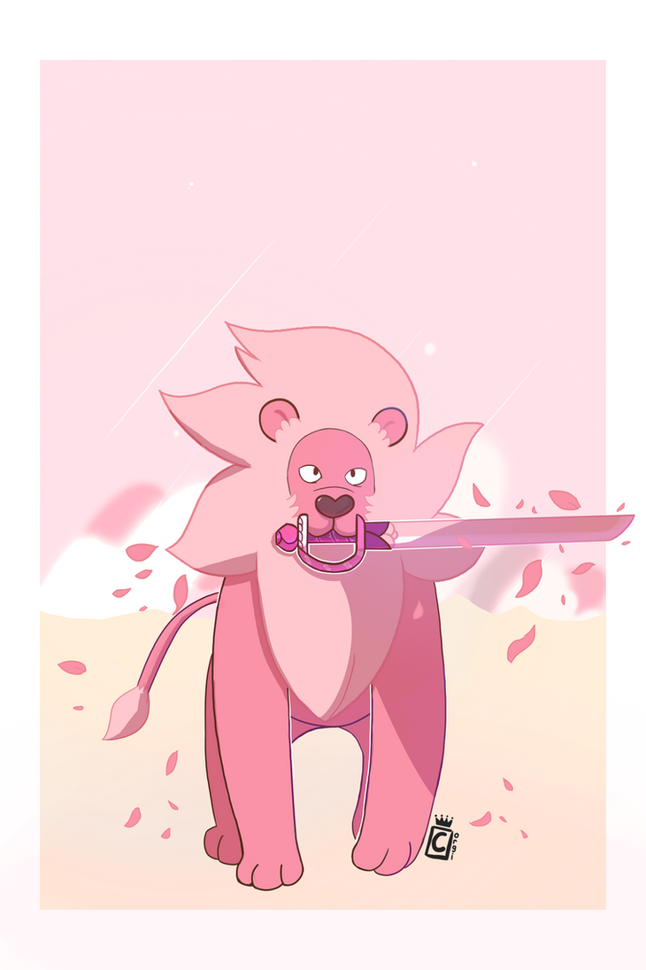 Wow, I'm surprised how this one turned out. I had a lot of fun working on this one. Never used this much pink in anything! Steven's Lion is from the Cartoon Network show, Steven Universe
