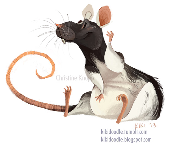 Domino the dumbo rat by kiki-doodle