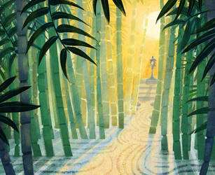 Bamboo Sunrise by kiki-doodle