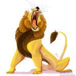 Lion Roar sticker or magnet